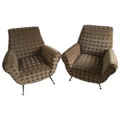 Gigi Radici Mid-Century Modern Lounge Chairs