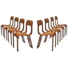 Gigi Sabadin Set of Eight Stackable Chairs