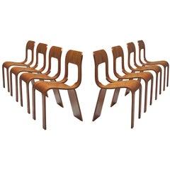 Gigi Sabadin Set of Eight Stackable Chairs