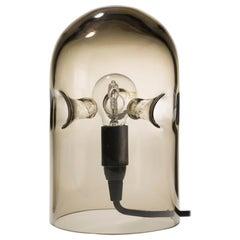 Gijs Bakker 'Tripod' Smoke Glass Table Lamp by Karakter