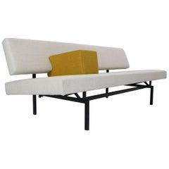 """Gijs Van Der Sluis Sofa or Daybed in Broken White & Yellow """"Model 540"""", 1961s"""
