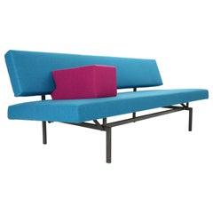 Gijs Van Der Sluis Streamline Blue Sleeper Sofa Daybed Model 540, 1961