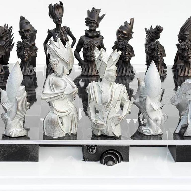 Checkmate - Contemporary Sculpture by Gil Bruvel