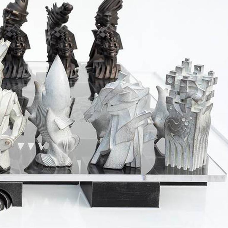 Checkmate - Brown Figurative Sculpture by Gil Bruvel