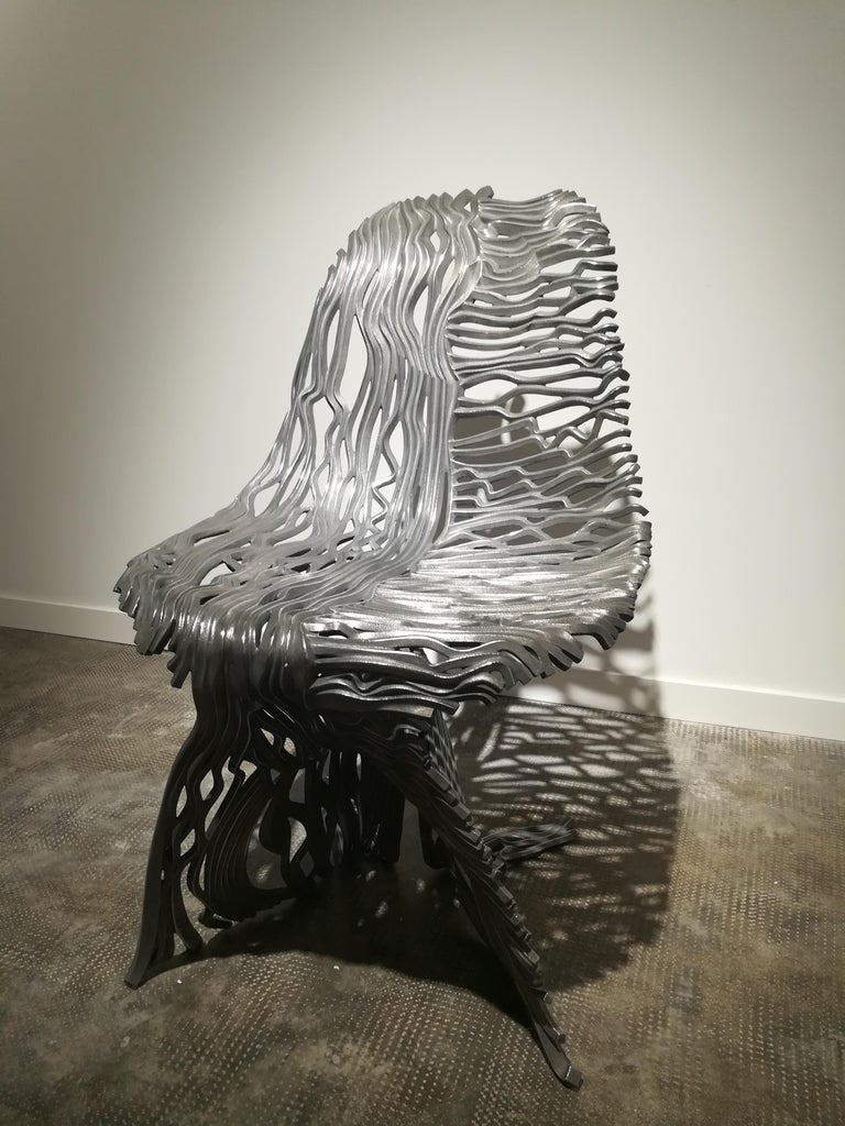 Dichotomy Chair - 21st Century, Contemporary, Sculpture, Stainless Steel For Sale 2