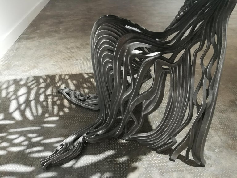 Dichotomy Chair - 21st Century, Contemporary, Sculpture, Stainless Steel For Sale 3