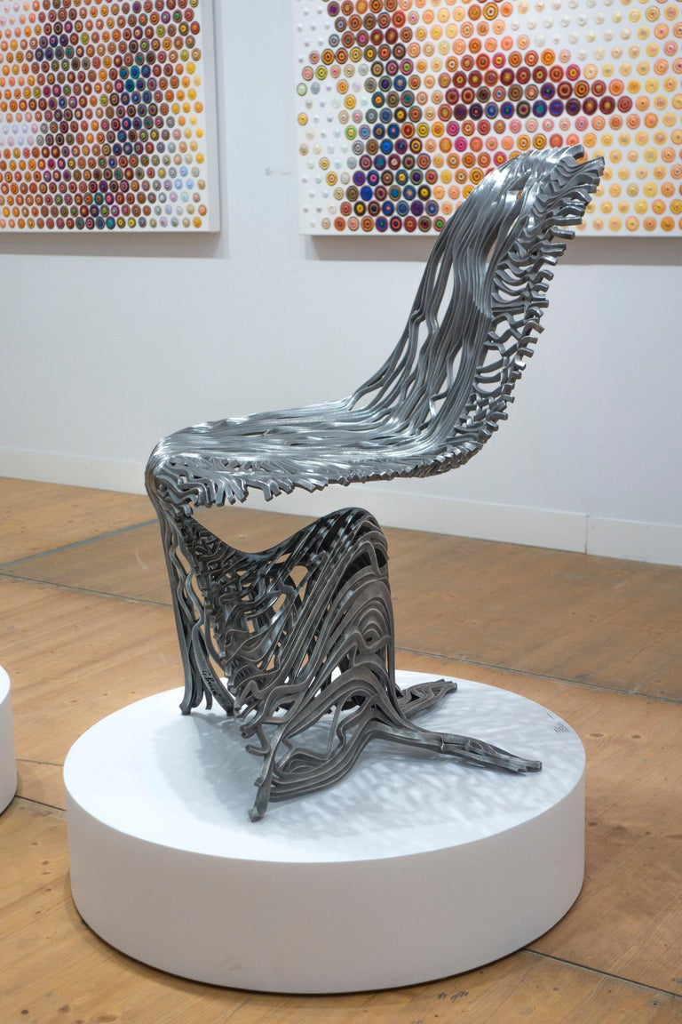 Dichotomy Chair - 21st Century, Contemporary, Sculpture, Stainless Steel For Sale 8