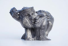Flowing - 21st Century, Contemporary, Figurative Sculpture, Stainless Steel
