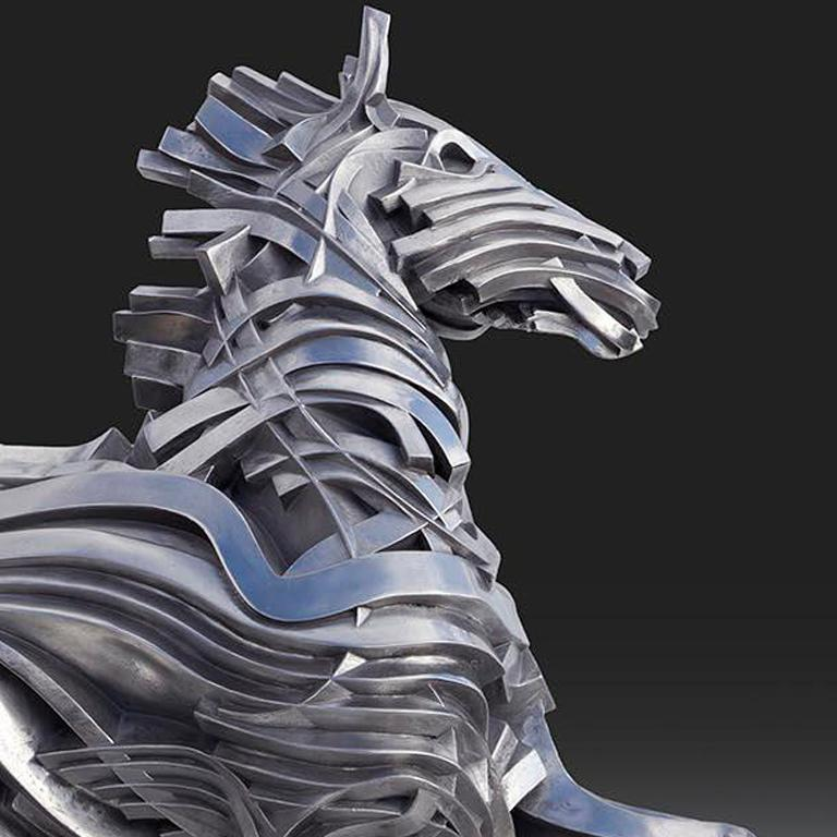 George's Horse - Contemporary Sculpture by Gil Bruvel