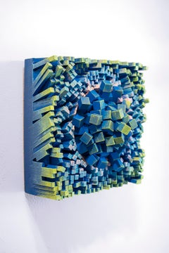 "Gil Bruvel, ""Bending the Lines #1"", Wood Wall Sculpture, 2018"