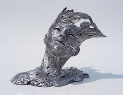 The Wind - 21st Century, Contemporary, Figurative Sculpture, Stainless Steel