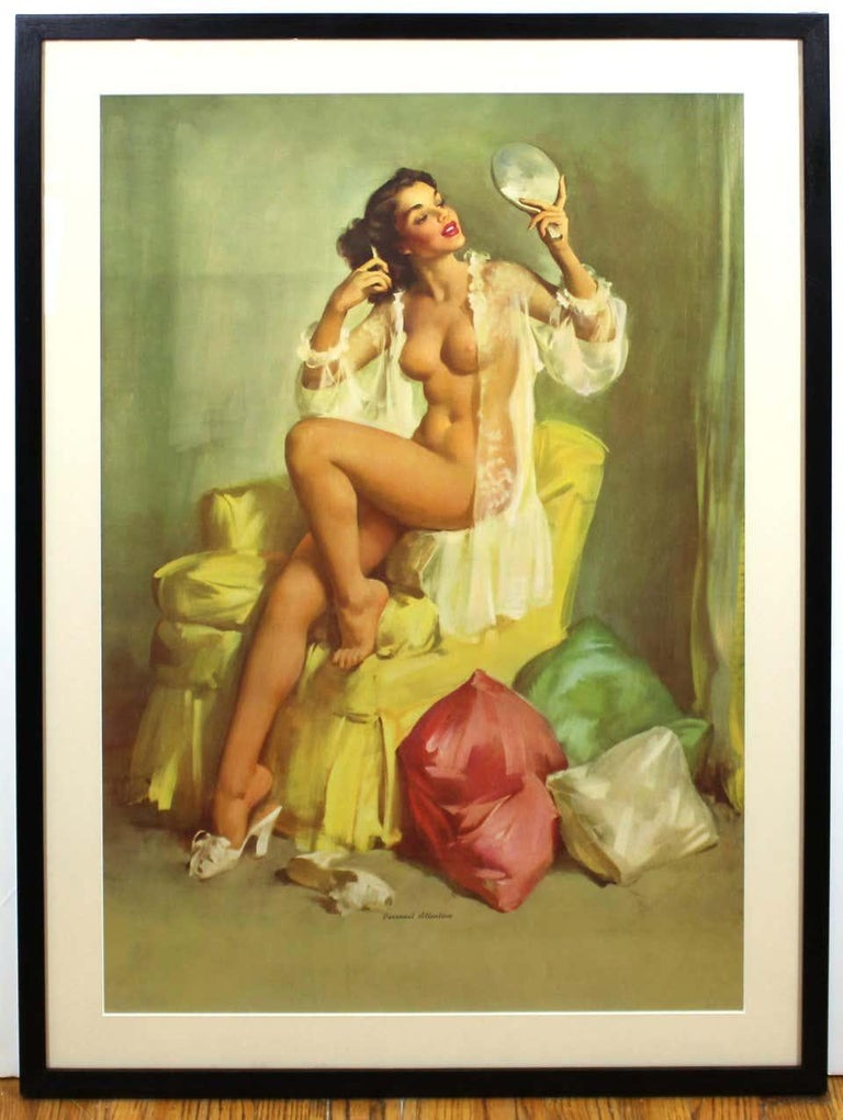 Nude Pin Up Girls Vintage Calendar Posters - Print by Gil Elvgren