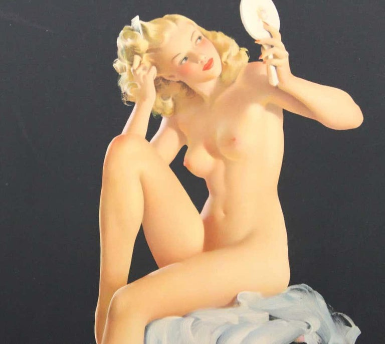 Nude Pin Up Girls Vintage Calendar Posters For Sale 1