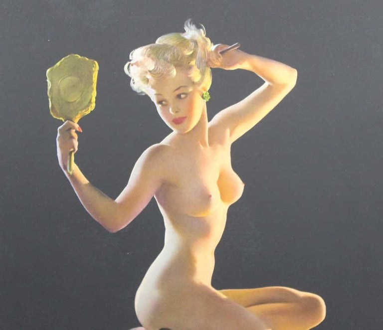 Nude Pin Up Girls Vintage Calendar Posters For Sale 4
