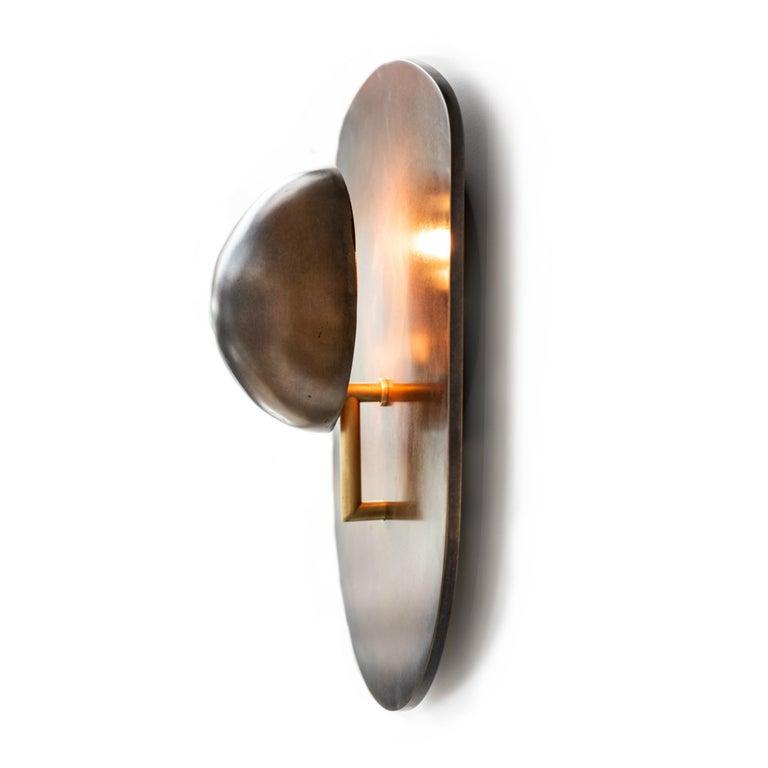 American Gil Melott Bespoke Luz SC Form 9 Bronze Sconce For Sale