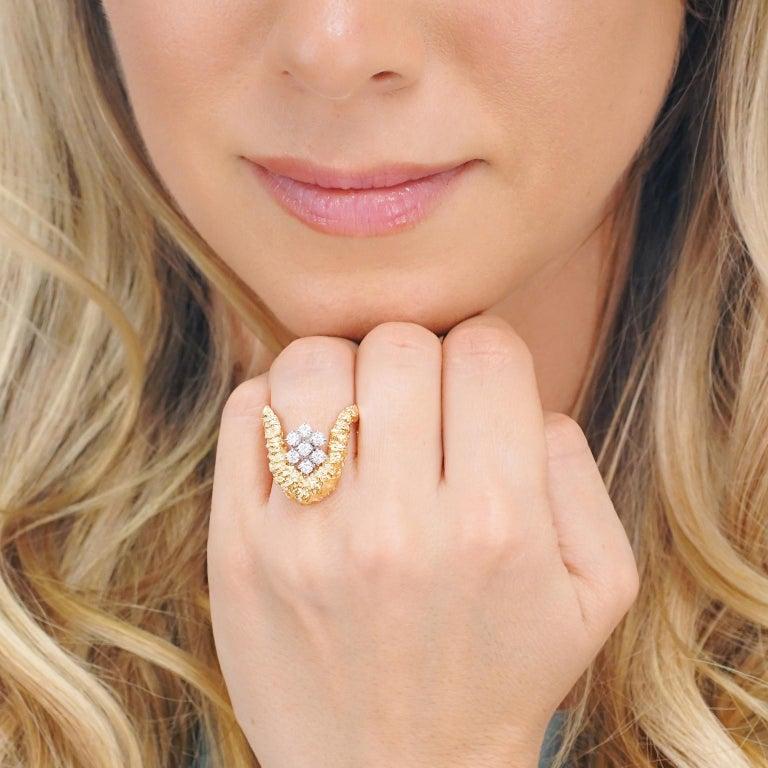Women's Gilbert Albert Abstract Diamond Set Ring For Sale