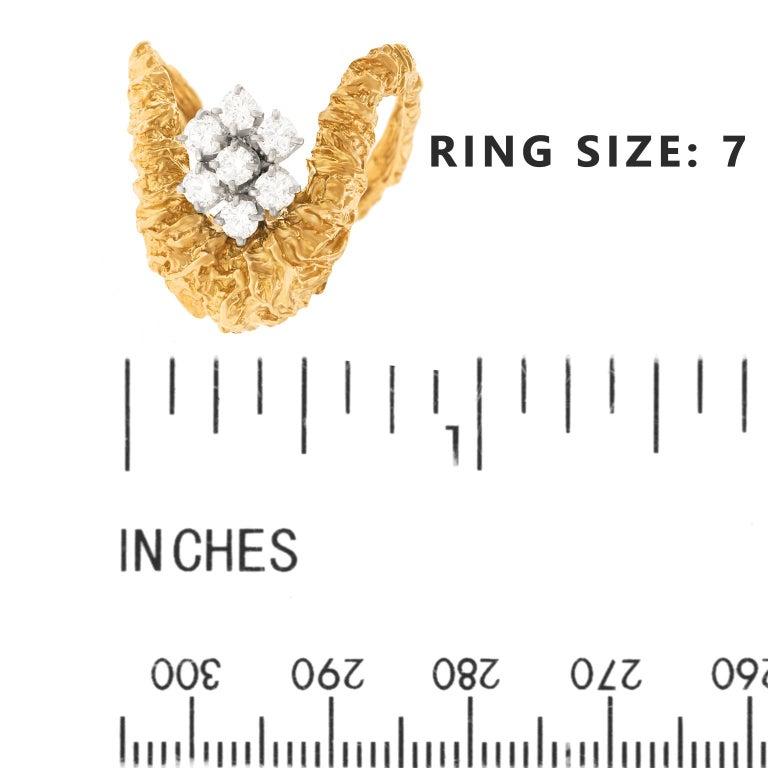 Gilbert Albert Abstract Diamond Set Ring For Sale 2