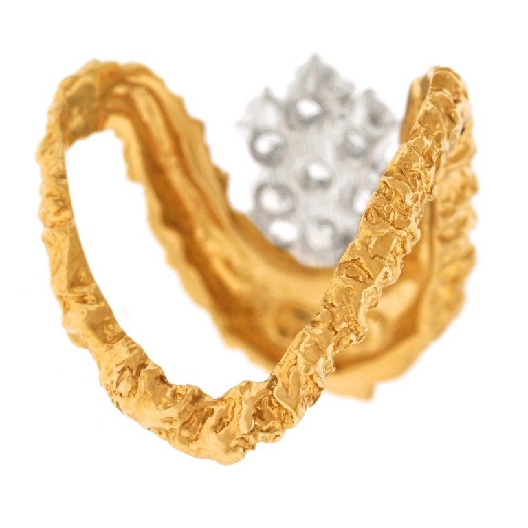 Gilbert Albert Abstract Diamond Set Ring For Sale 4