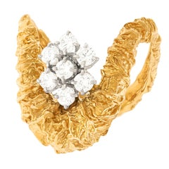 Gilbert Albert Abstract Diamond Set Ring