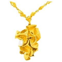 Gilbert Albert Abstract Gold Pendant