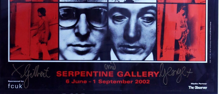 Gilbert and George Dirty Words Pictures Original work at the Kunst Museum Wolfsburg 1977  Reprinted by Serpentine gallery in 2002 Signed in silver and gold by Gilbert and George Offset lithograph printed in colors.