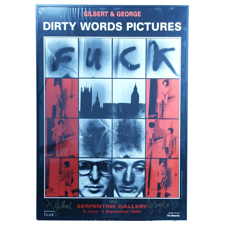 """Gilbert and George """"Dirty Words Pictures"""" Signed by Gilbert and George 2002 For Sale"""