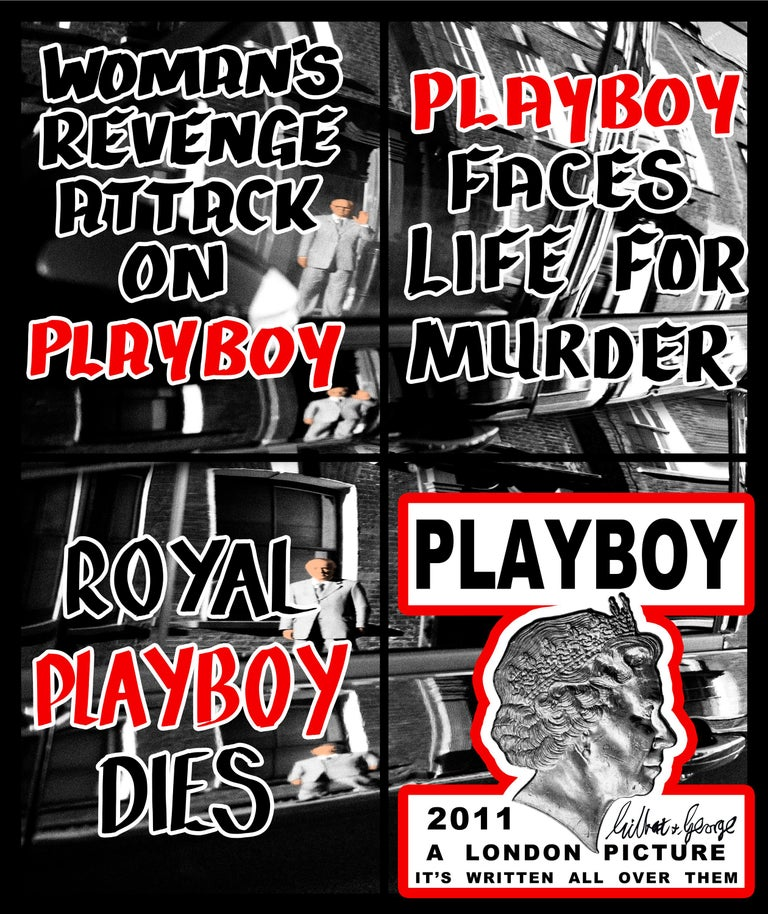 Playboy - Mixed Media Art by Gilbert & George