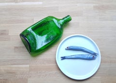Reclining Drunk -- Sculpture, Edition, Bottle, Gin, Ash Tray by Gilbert & George