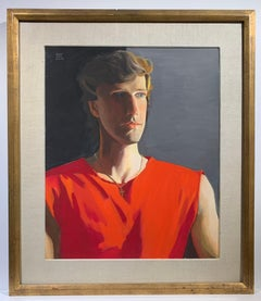 Untitled Male Portrait (Red Sleeveless)