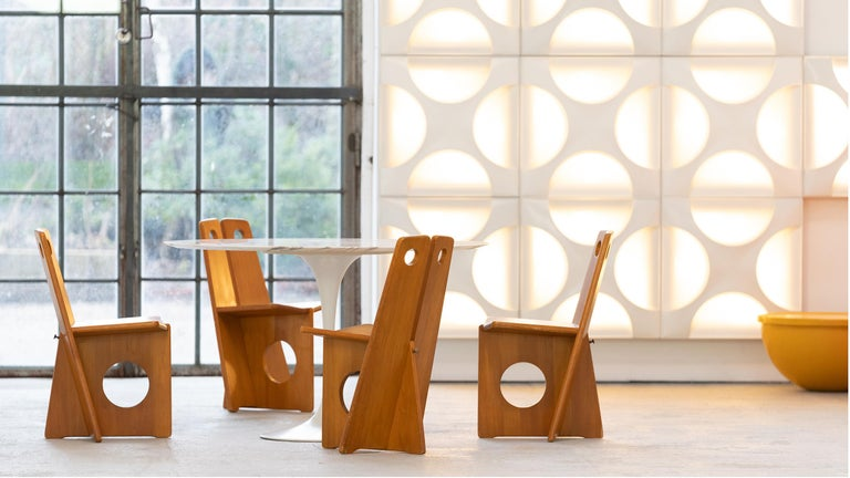 Gilbert Marklund, Dining Chair Set in Pine, 1970 by Furusnickarn AB, Sweden For Sale 5