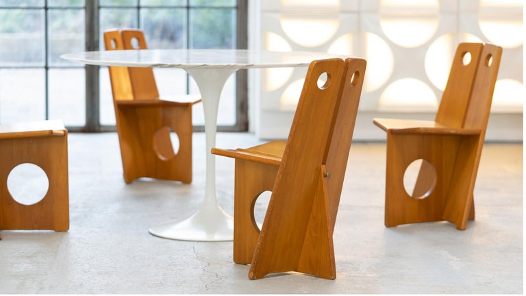 Gilbert Marklund, Dining Chair Set in Pine, 1970 by Furusnickarn AB, Sweden For Sale 7