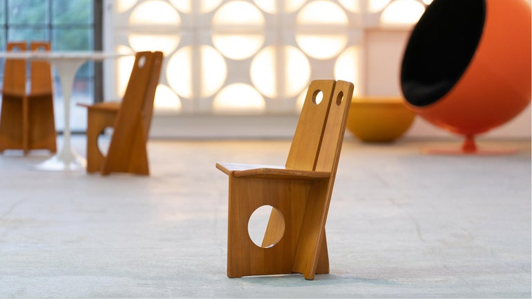 Gilbert Marklund, Dining Chair Set in Pine, 1970 by Furusnickarn AB, Sweden For Sale 13