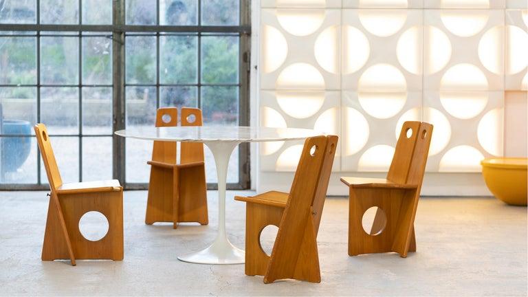 Scandinavian Modern Gilbert Marklund, Dining Chair Set in Pine, 1970 by Furusnickarn AB, Sweden For Sale