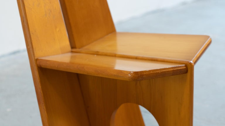 Gilbert Marklund, Dining Chair Set in Pine, 1970 by Furusnickarn AB, Sweden In Good Condition For Sale In Munster, NRW