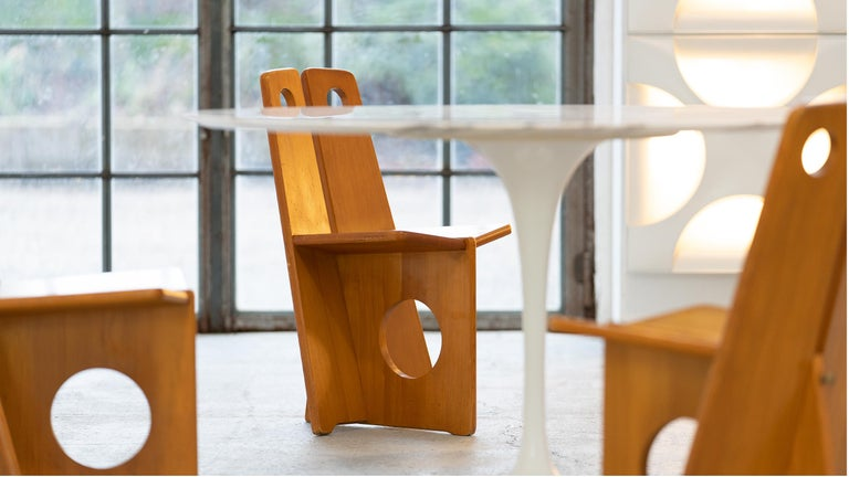 Gilbert Marklund, Dining Chair Set in Pine, 1970 by Furusnickarn AB, Sweden For Sale 2