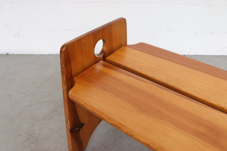 Gilbert Marklund Pine Dining Table and Bench Set For Sale 11