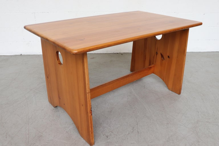 Late 20th Century Gilbert Marklund Pine Dining Table and Bench Set For Sale