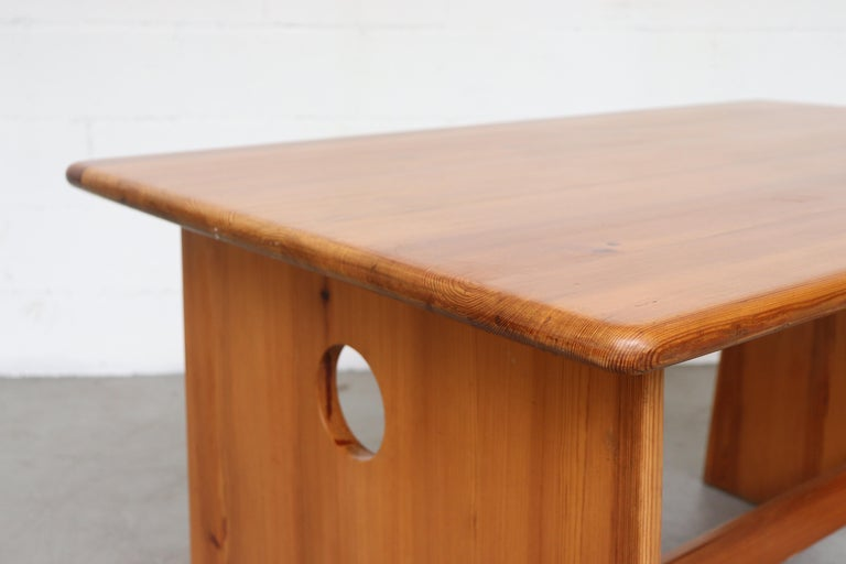 Gilbert Marklund Pine Dining Table and Bench Set For Sale 1