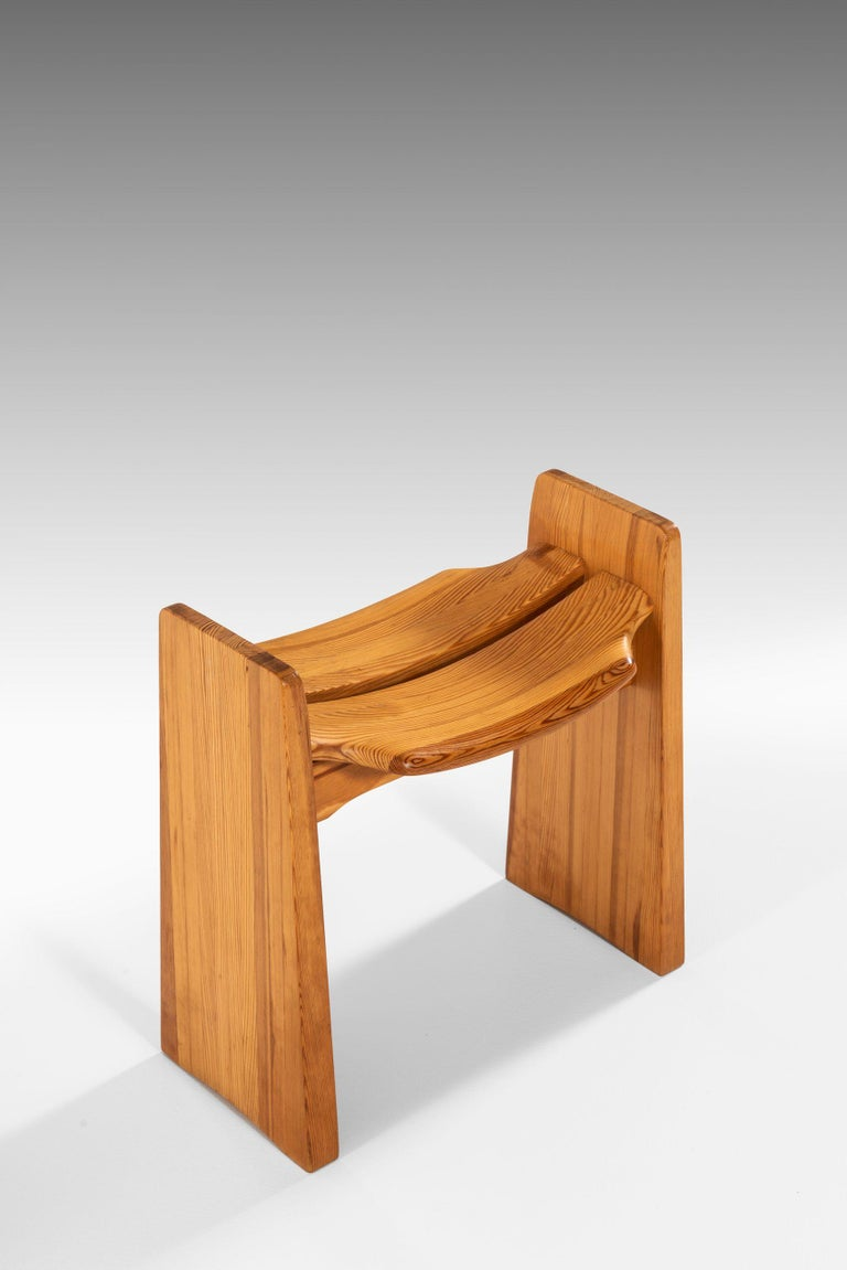 Scandinavian Modern Gilbert Marklund Stools Produced by Furusnickarn AB in Sweden For Sale