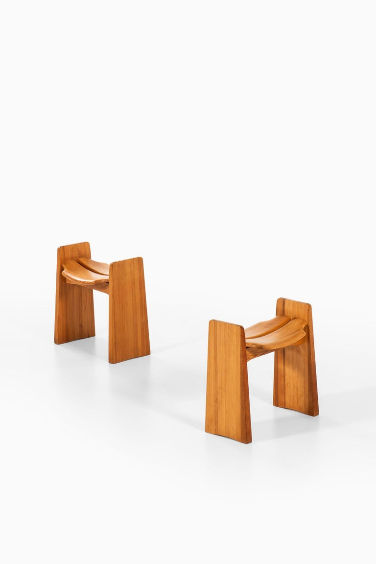 Swedish Gilbert Marklund Stools Produced by Furusnickarn AB in Sweden For Sale