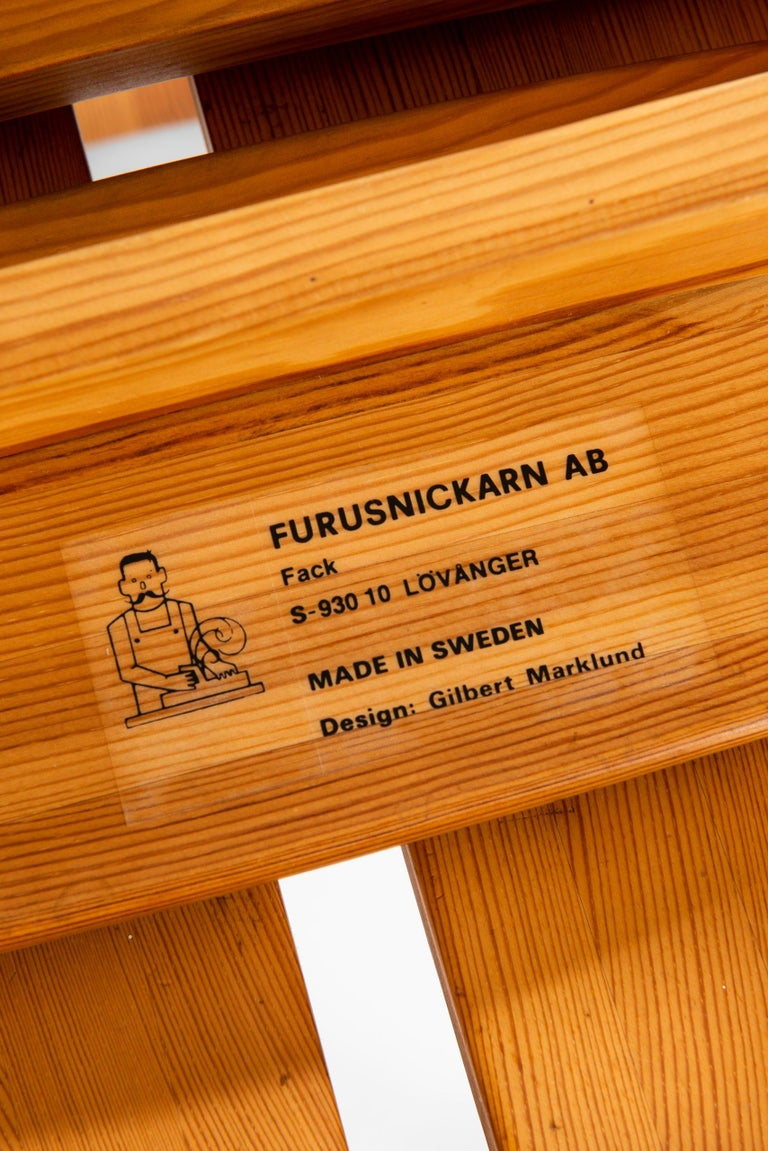 Mid-20th Century Gilbert Marklund Stools Produced by Furusnickarn AB in Sweden For Sale