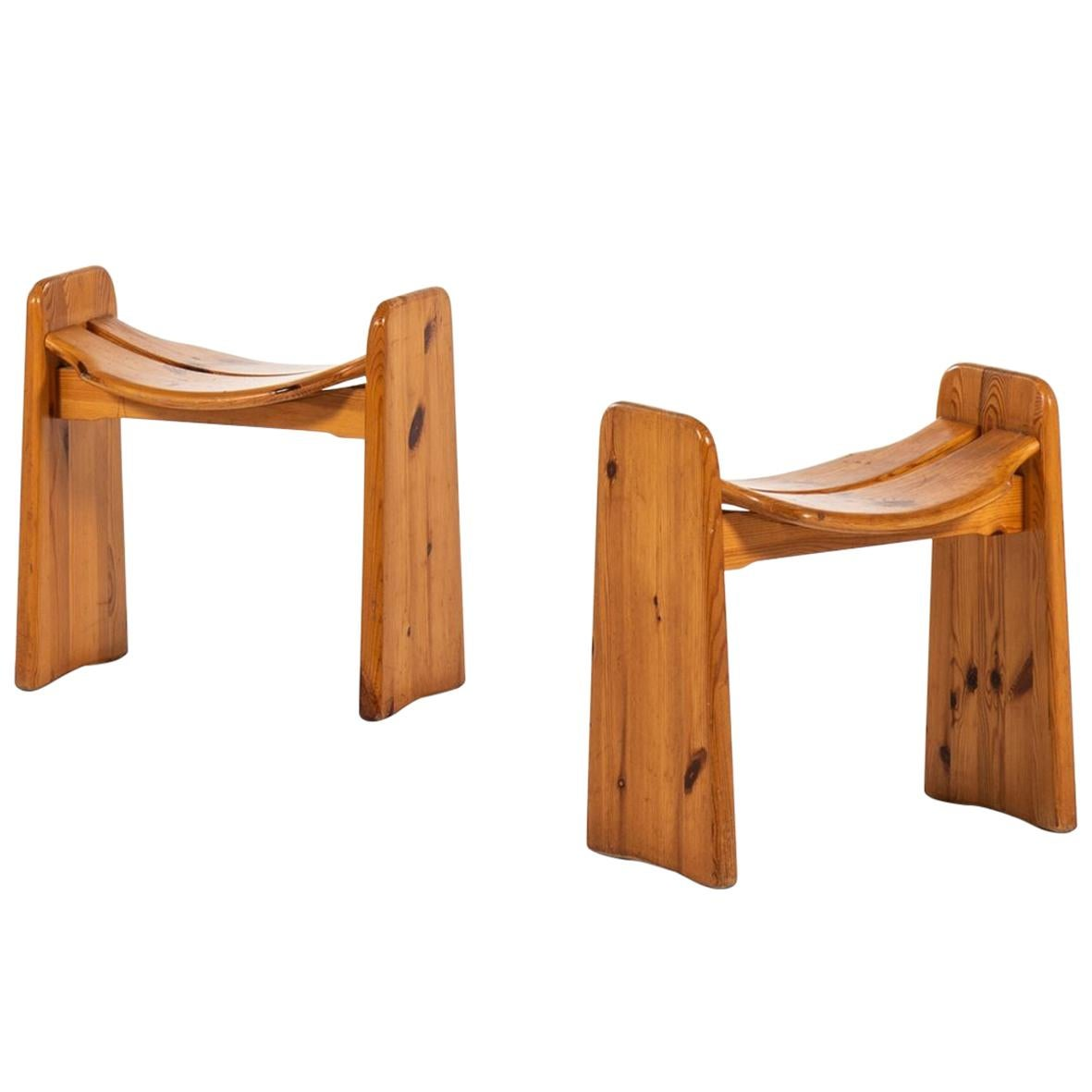 Gilbert Marklund Stools Produced by Furusnickarn AB in Sweden