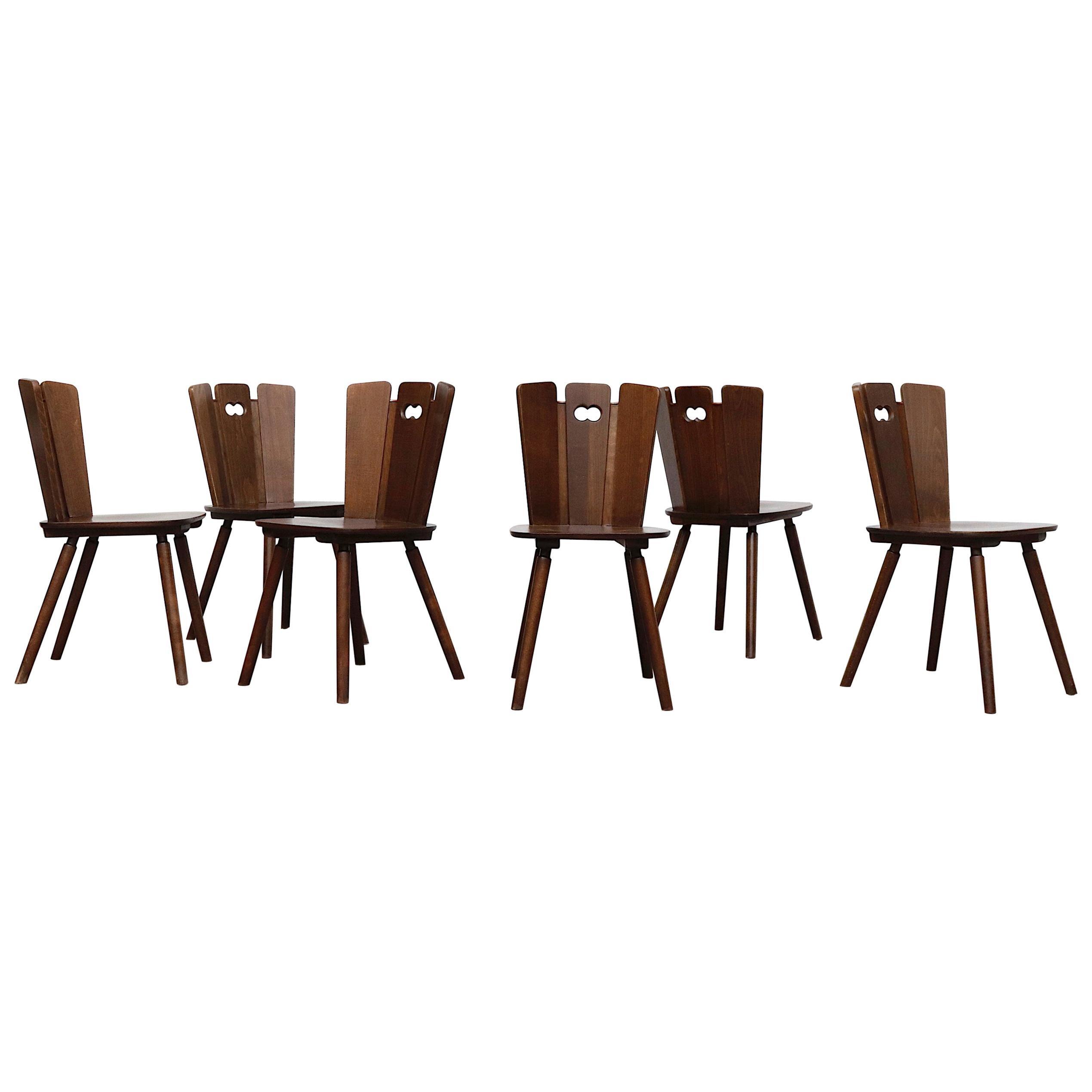 Gilbert Marklund Style Brutalist Dining Chairs