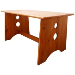 Gilbert Marklund Swedish Pine Midcentury Dining Table