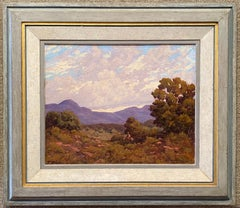 """Santa Ana Mountains  Southern California""  LANDSCAPE WITH SMALL HORSE AND RIDER"