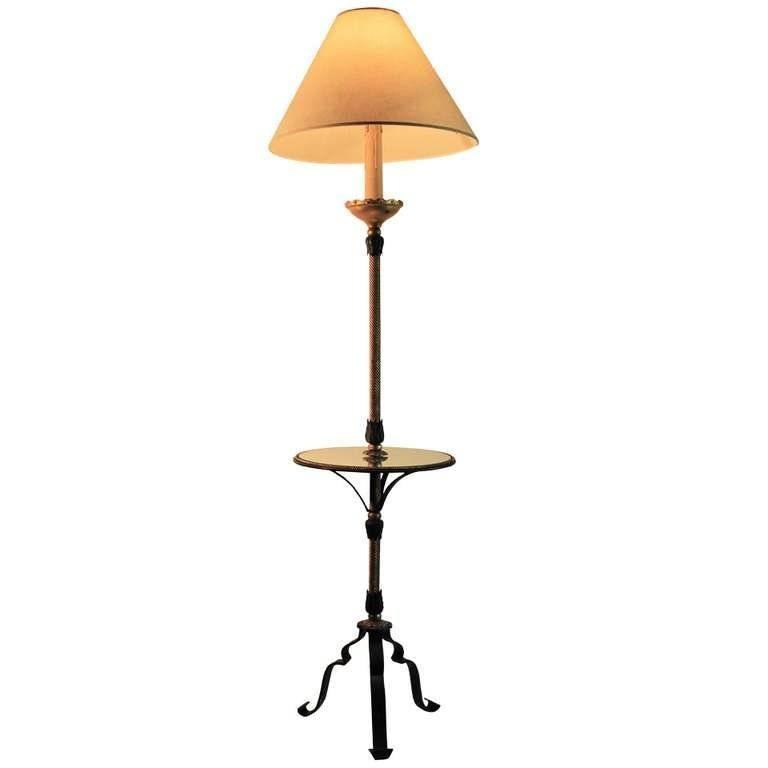 Parcel Gilt Wrought Iron Floor Lamp