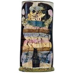 Gilbert Portanier / Ceramic Vase, Vallauris, 1981