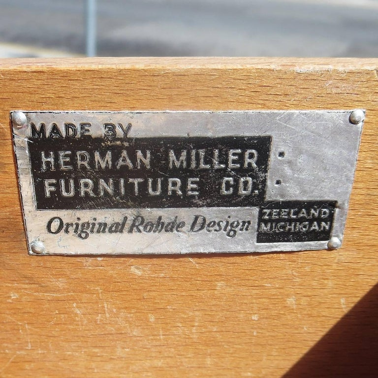 Wood Gilbert Rohde / Herman Miller Refinished 1939 Art Deco End Tables For Sale