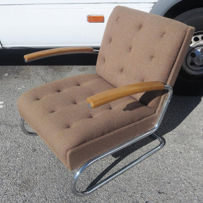 Streamlined Moderne Gilbert Rohde Armchair, Troy Sunshade Co. For Sale