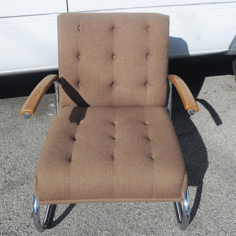 Metalwork Gilbert Rohde Armchair, Troy Sunshade Co. For Sale